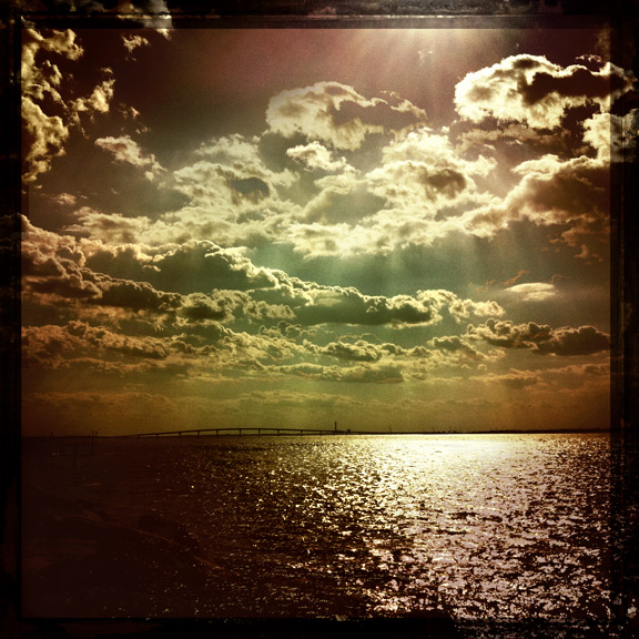 longport nj jersey margate bay ocean clouds sun water bridge hipstamatic iphone