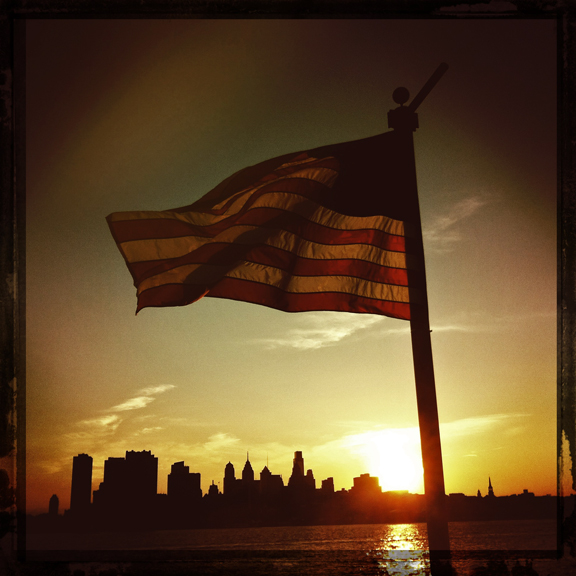 flag, skyline, philadelphia, kaplan, hipstamatic
